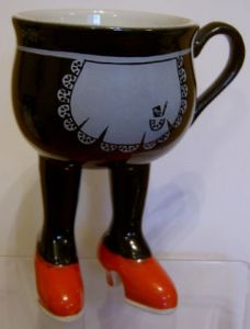 Carlton Ware Walking Ware Lustre Pottery French Maid Cup